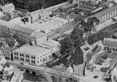 Kingston Mills, aerial photograph