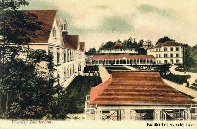 coloured postcard of Winsley Sanatorium