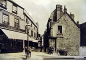 The Shambles, Market Street end, Bradford on Avon before the Post Office was built, c1900