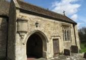 porch and Long Chapel, South Wraxall church