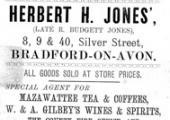 Herbert Jones, grocer, Silver Street, Bradford on Avon  1893
