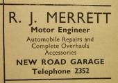 Saxon Garage advertisement, Bradford on Avon