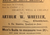 Wheeler, tailor, Shambles, Bradford on Avon