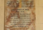 war memorial, Wingfield church